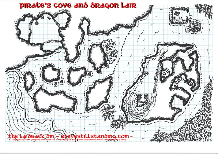 Pirate Cove and Dragon Lair Map