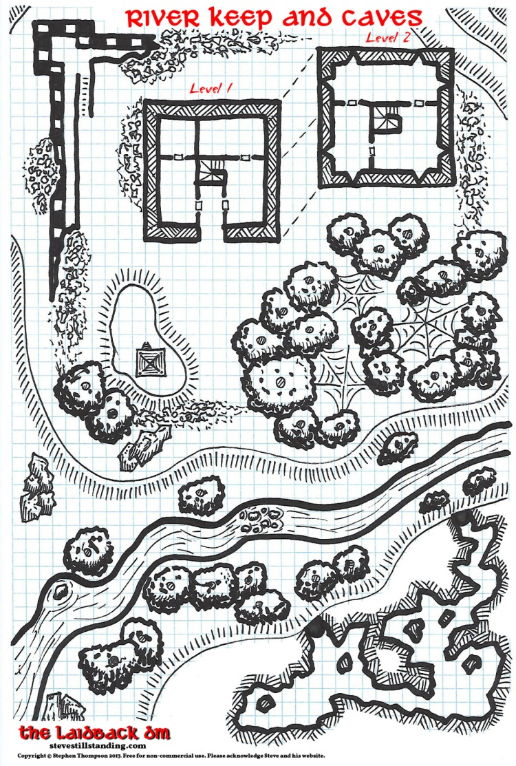 River Keep and Caves - 20x13 - stevestillstanding