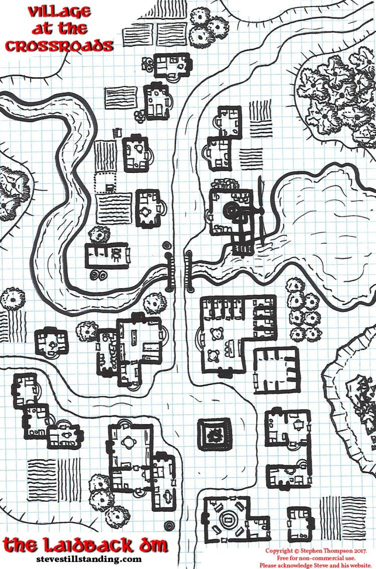 Village at the Crossroads - 13x20 - stevestillstanding