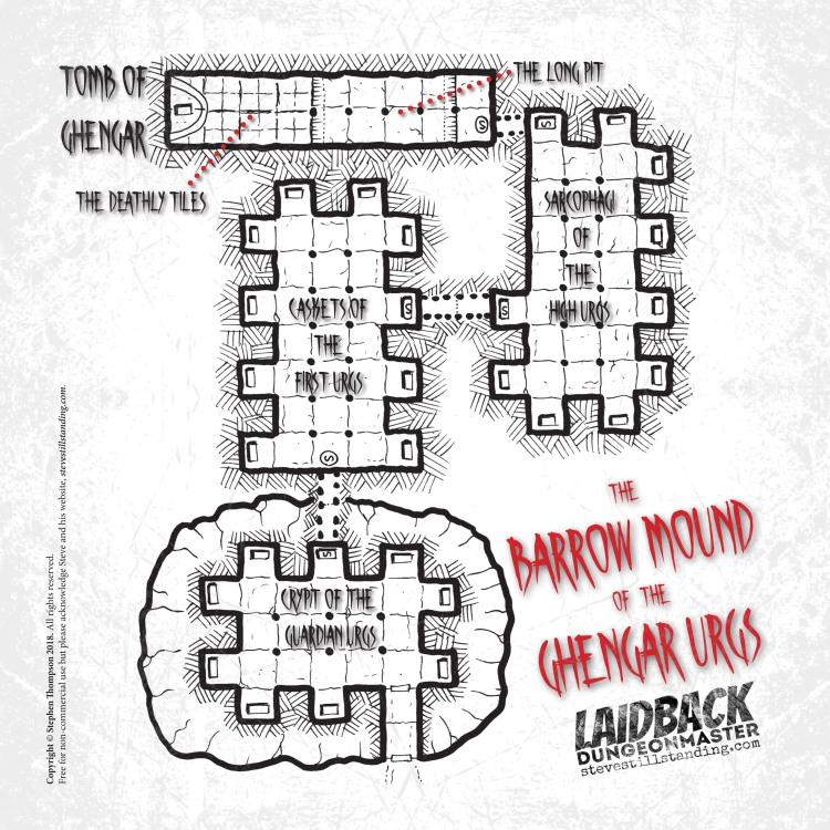 Barrow Mound of the Ghengar Urgs Map - Laidback DM - stevestillstanding