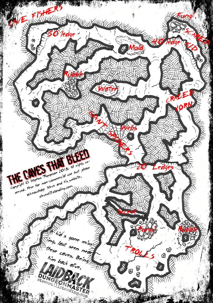 Cave Map - Laidback DM - stevestillstanding