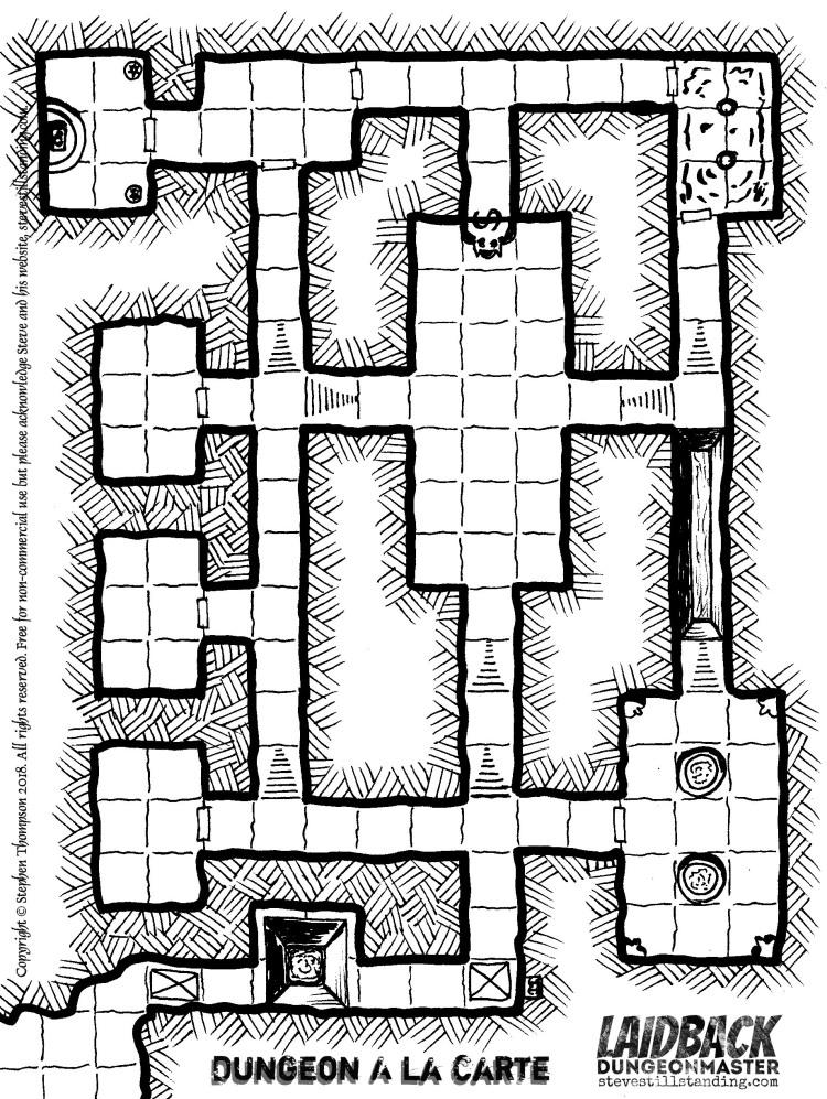 Dungeon A La Carte - Laidback DM - stevestillstanding copy