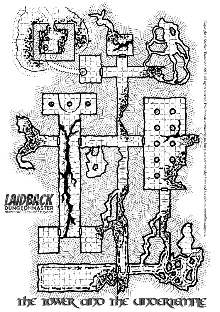 Ruined Tower and Undertemple - Laidback DM - stevestillstanding