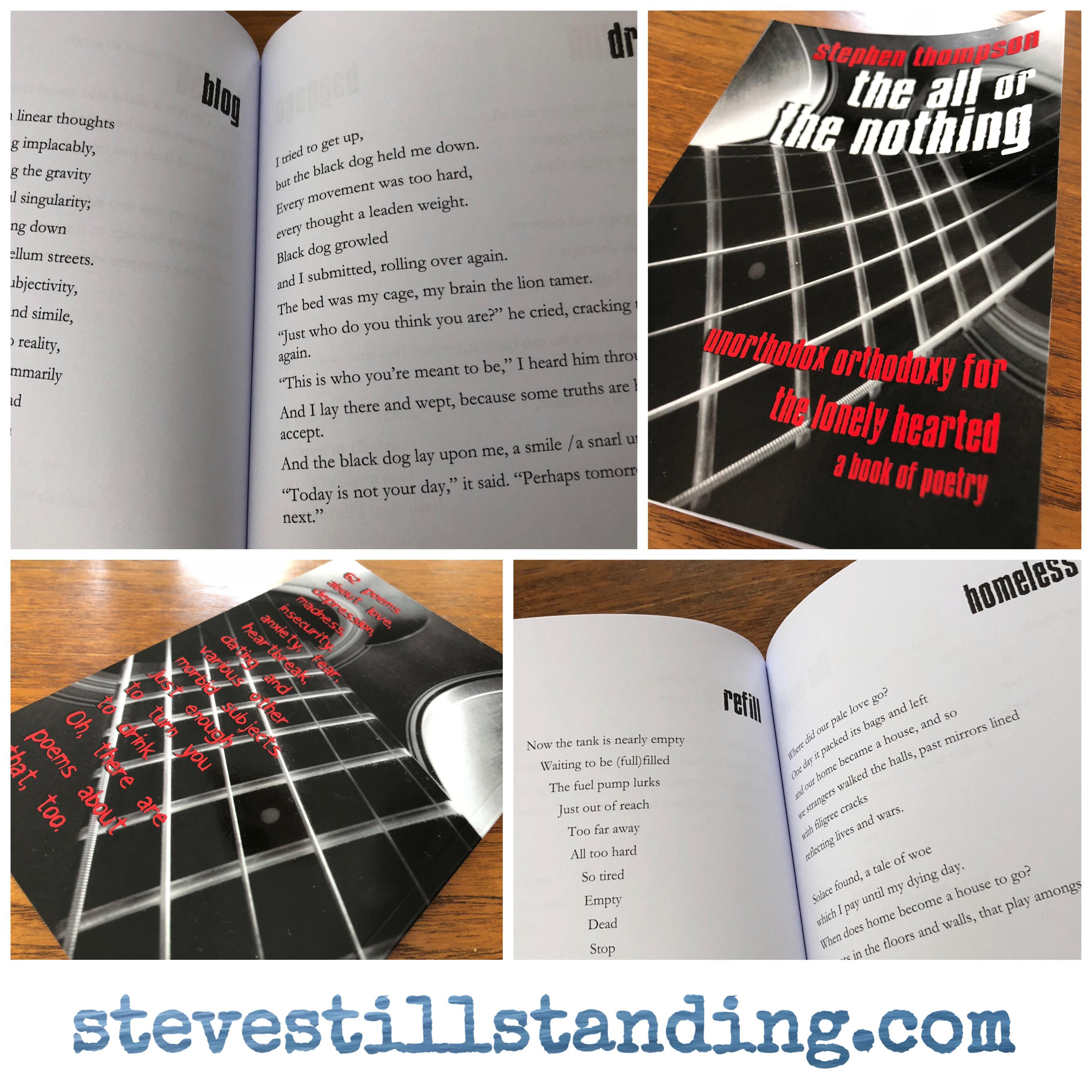 poetry book - the all or the nothing - stevestillstanding