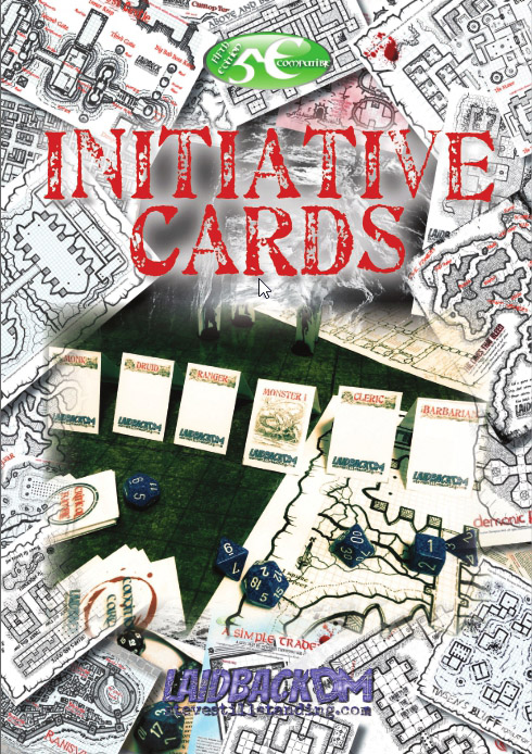 Initiative Cards Cover - Laidback DM