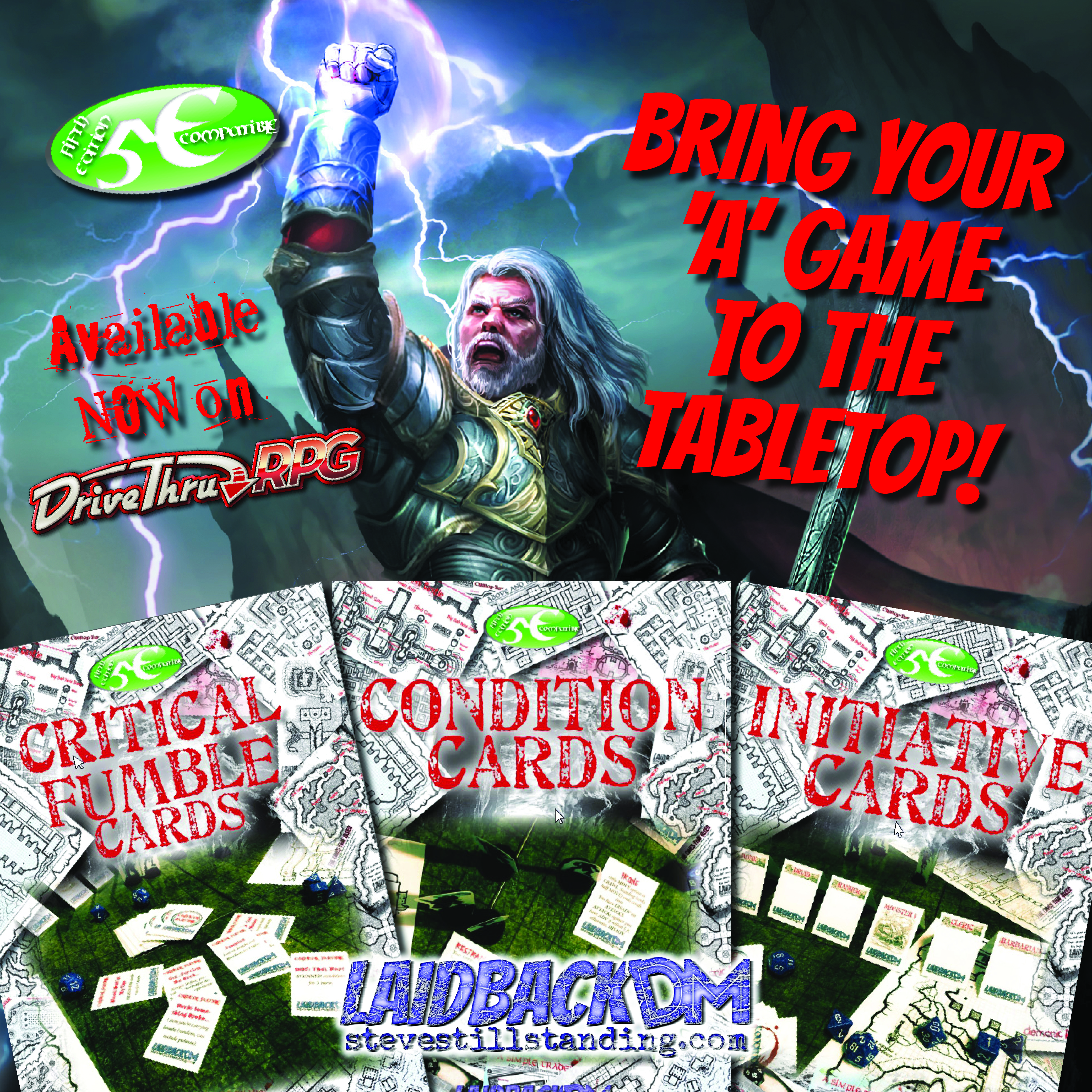 LaidbackDM Cards Ad