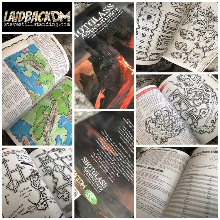 Shotglass Adventures book - Laidback DM