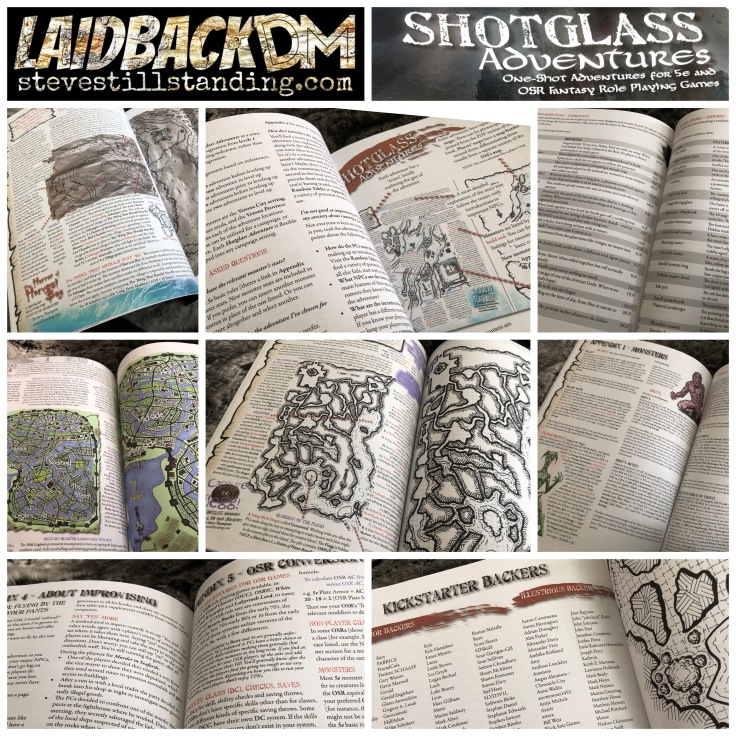 Shotglass Adventures book - Laidback DM