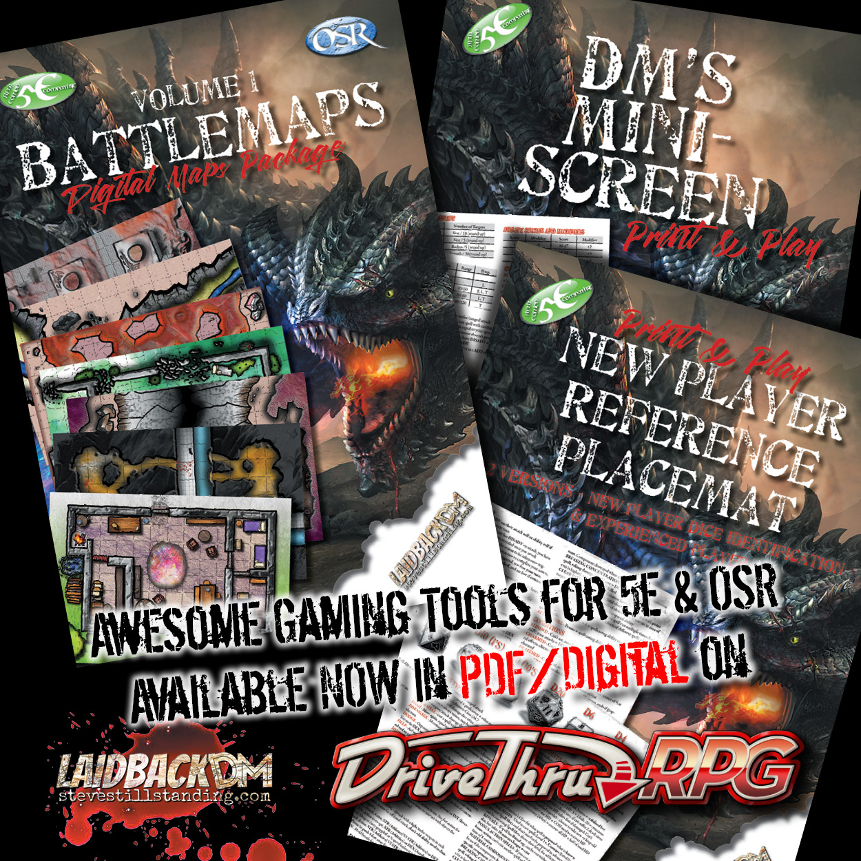 Laidback DM Ad - Battlemaps and Screen