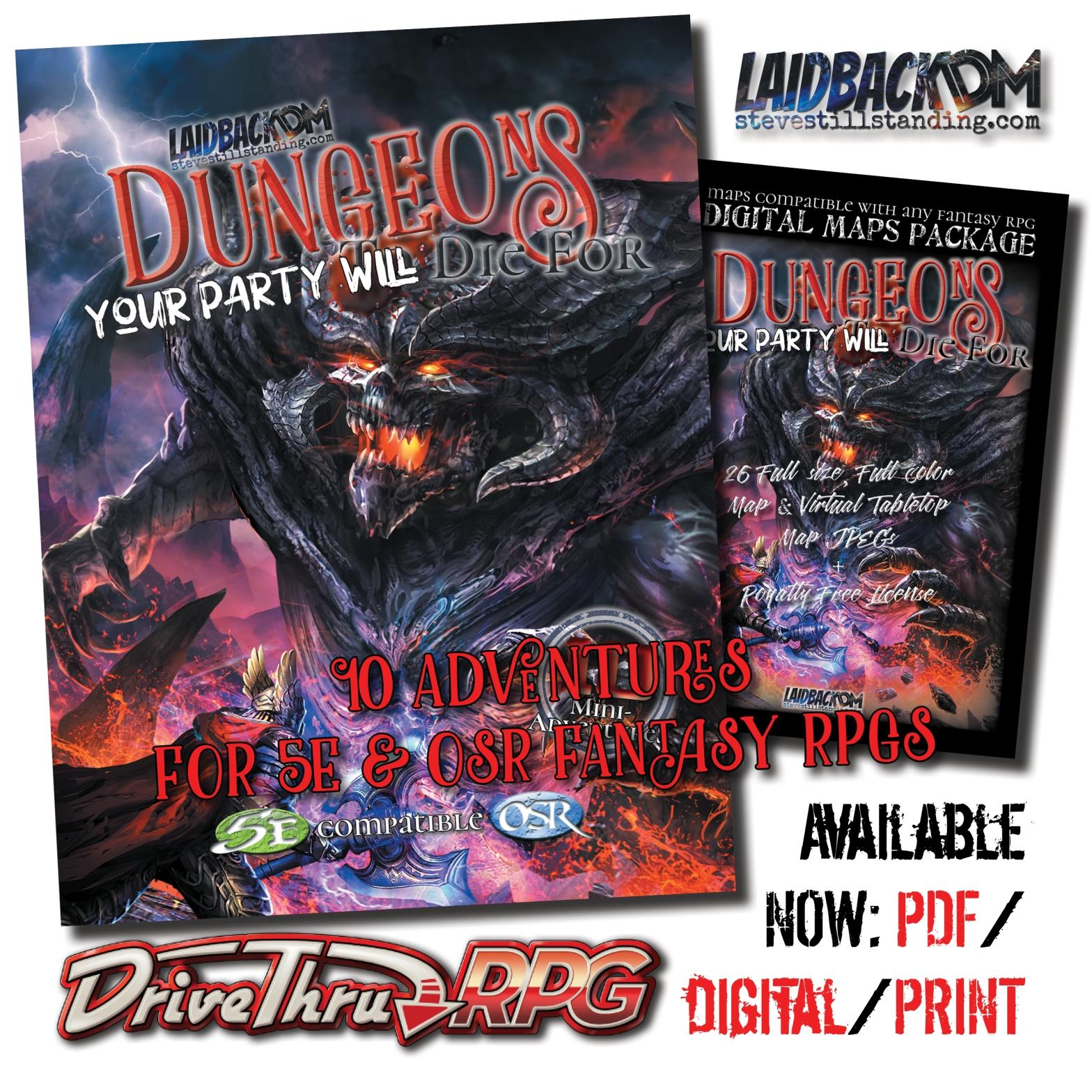 Laidback DM - DYPWDF DrivethruRPG Ad