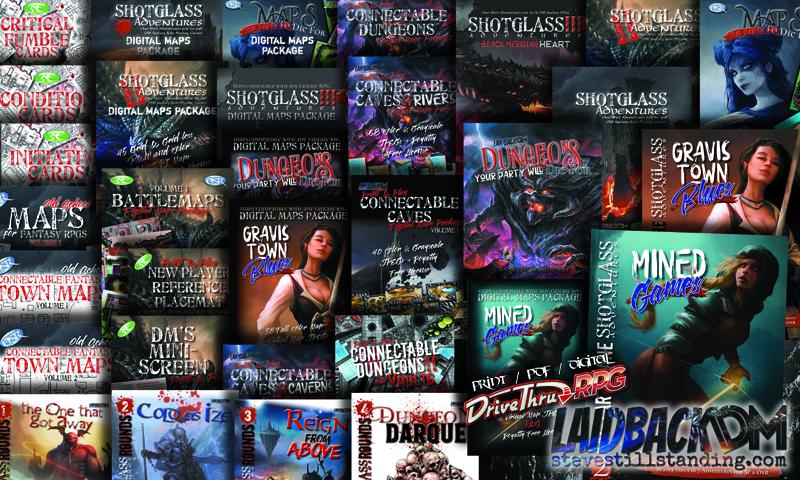 Laidback DM products at DrivethruRPG