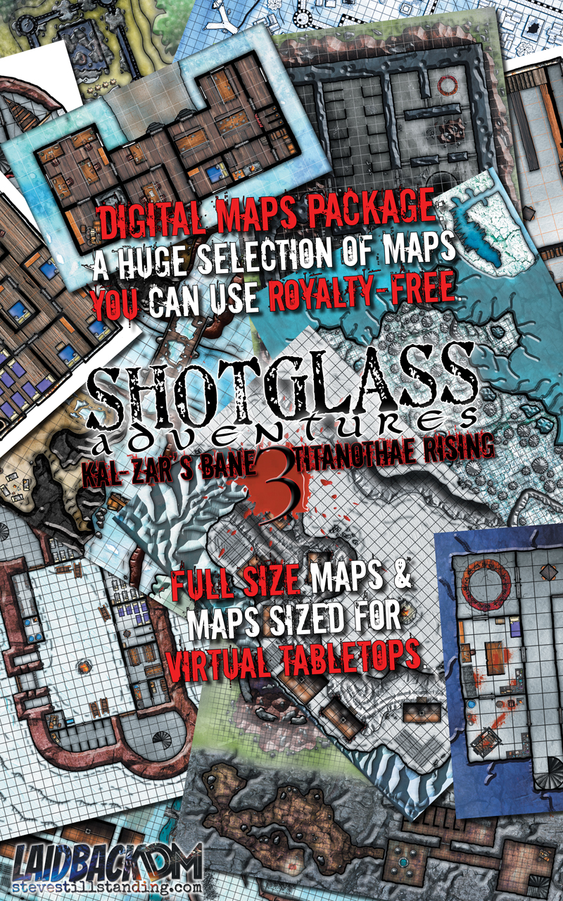 Shotglass Adventures Kal-Zar's Bane 3 Maps Package