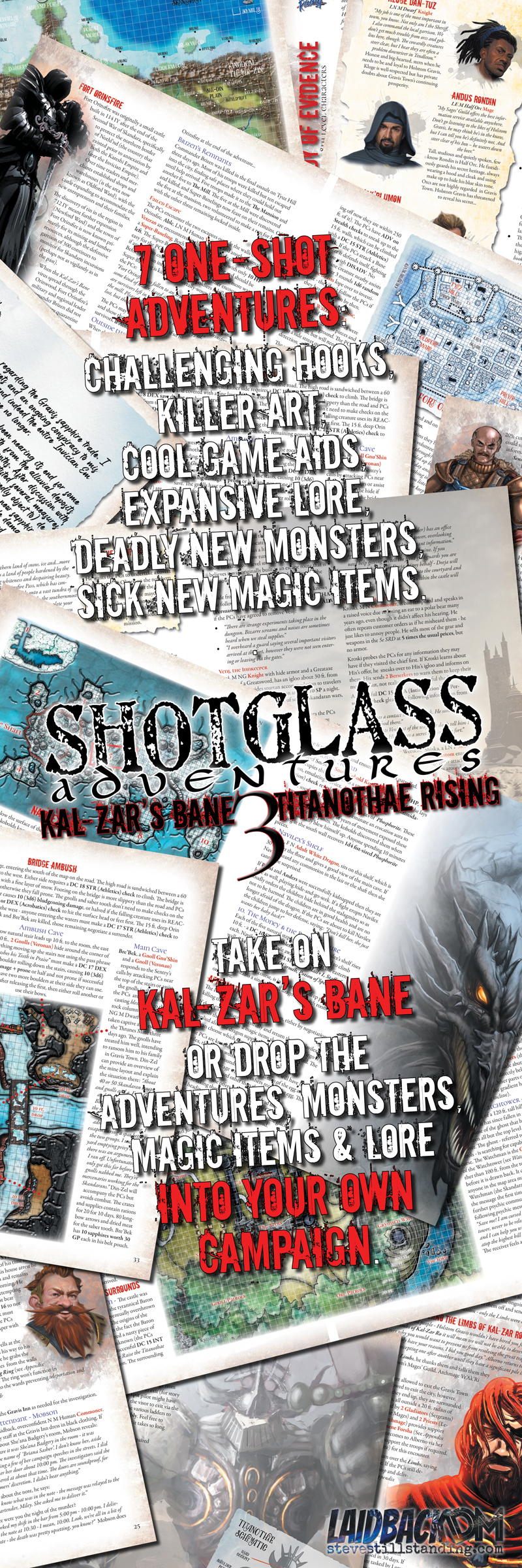 Shotglass Adventures Kal-Zar's Bane 3 Internal Pages